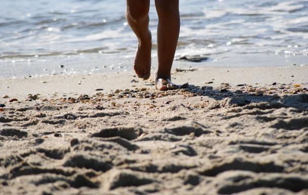 Running on the beach....Oh so fun!!