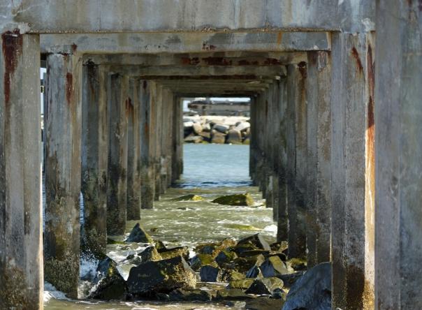 Pier Columns-Atlantic City NJ-Inlet