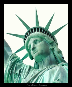 Face of the Statue of Liberty