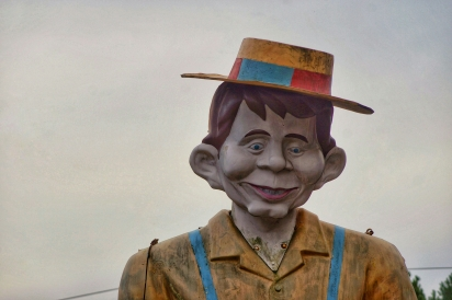 Mr. Bill's famous Landmark - face of Alfred E. Neuman