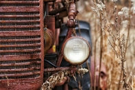 old tractor light