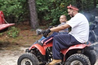 Robert is enjoying his ride too!