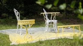 Deck furniture painted Summer Squash